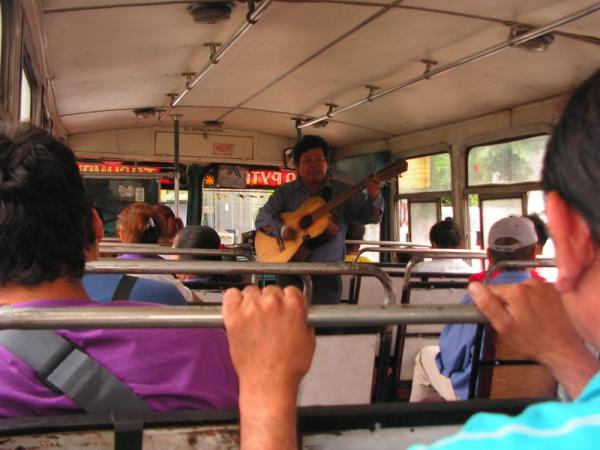 Live music on the bus