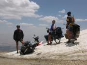 We didn't expect to cycle on the snow in Lebanon during summer